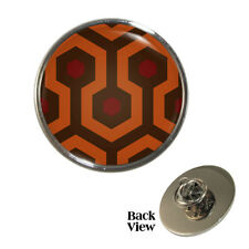 Horror Movie Hotel Carpet Pin Badge retro king pattern scary film Brand New