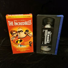 The Incredibles VHS Movie Disney 2005 Release Video FREE SHIP Pixar!
