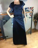 Size 8 Linzi Jay Long Full Length Ball Gown Dress + Cropped Bolero Jacket