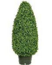 "42"" Artificial Outdoor Boxwood Cone Topiary Bush Plant 3' 6"" Tree Pot Porch Pool"