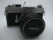 Canon TX 35mm SLR Film Camera with Vivitar Wide-Angle 25MM f/2.8 Lens