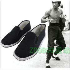 Chinese Martial Art Kung Fu Ninja Shoes Slip On RUBBER Sole-Canvas Slippers