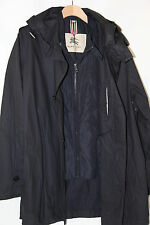Burberry London 100% Cotton W Removable Vest Hooded Coat Size XL