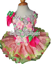 Infant/toddler/baby Lace Crystals Floral Pageant Glitz Dress 18~24 Months G276