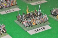 15mm medieval / english - men at arms 12 figs - cav (56618)
