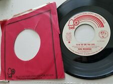 "NANA MOUSKOURI - To Be The One You Love 1974 PROMO MONO / STEREO Chanson Pop 7"""