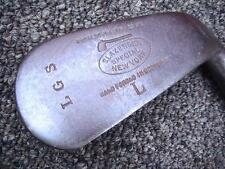 Rare ANTIQUE TOM STEWART SLAZENGER SPECIAL SMOOTH FACE  MASHIE WOOD SHAFT