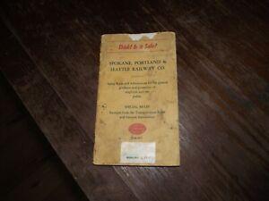 1959 Spokane Portland & Seattle Railway Company Railroad Special Rules Book