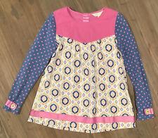 Matilda Jane Make Believe Special Talent Tunic Top Size 6 Pink Blue