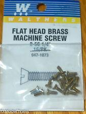 "Walthers #947-1073 (16 in Pkg) 2-56 Brass Flat Head Machine Screws - 1/4 x .086"""