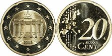 Germany 20 Euro Cents 2002-A Proof PRISTINE GEM PROOF *~*RARE PROOF ISSUE*~*