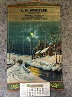 Vintage 1957 Local Advertising Calendar-Gulf Fuel Oil-Etters, PA