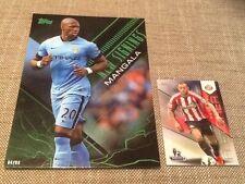 Eliaquim Mangala Manchester City /99 Green Topps Premier Gold 2014 5x7 art card