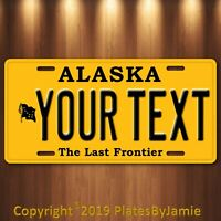 ALASKA YOUR TEXT  Personalized Custom Aluminum License Plate Tag New