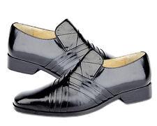 Montecatini Mens Shoes Leather Italian Tab Wedding style Slip on Black UK6 -12