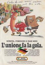 X3084 Specialità dalla Germania - L'unione fa la gola - Pubblicità - 1984 old ad