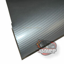 1.5m x 3m Carbon fibre wrap vinyl 4D SILVER semi gloss car sticker bonnet roof