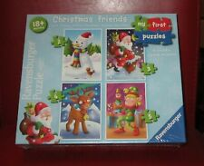 RAVENSBURGER PUZZLE SET ( 4 CHUNKY JIGSAWS - MY FIRST PUZZLES ) NEW & SEALED!!!