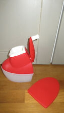 TUPPERWARE moulin universel - râpe fromage - chocolat ect .. Rouge -