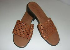 Women's LEATHER CRAFT By Fashion Tradition Brown Slip On Shoes SIZE 8 M