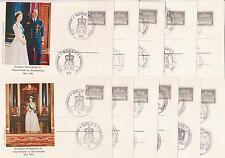 Deutschlandbesuch Königin Elisabeth, 11 Sonderpostkarten mit 11 Sonderstempeln!