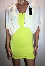 Unbranded Women's Lime Green White Shirt Over Dress Size XS BNWT #TM69