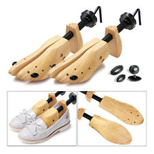 2x Women Ladies Pine Wood Boot Shoe Tree Stretcher Wooden Shaper Size 7-10 UK