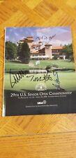 Tom Watson And 3 Others Signed 2008 U.S. Senior Open Program The Broadmoor