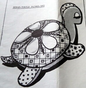 GREAT VTG TURTLE PAJAMA-BAG DOLL SEWING PATTERN FF