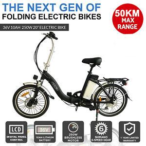 "36V 10AH Black City Tour 20"" Folding Electric Bike E-bike Bicycle Lithium Ebike"