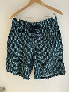 Mens XL VILEBREQUIN Designer $499 RRP Fish Design Beach Swim Shorts NEW
