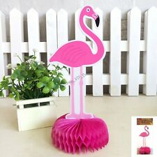 FLAMINGO CENTREPIECE 24CM PARTY BABY SHOWER  HAWAIIAN LUAU TROPICAL POOL