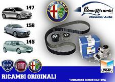 KIT DISTRIBUZIONE ORIGINALE FIAT + POMPA ACQUA GRAF ALFA 145 146 147 156 1.9 JTD