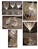 Vintage Mikasa Elegant Wine Glasses Wide Vertical Cuts Set of 3