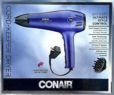 Conair Cord-Keeper Hair Dryer Ultimate Style Control 1875 Watts ~ Purple