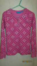 Youth Kids Girls Size 7-8 Medium The Children's Place Polka Dot Hearts Shirt Top