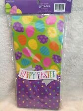 "New Happy Easter Gift Sacks Gift Bags Goodie Gift Sack 12 Bags ~ 5"" x 10"" x 3"""