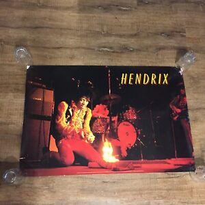 Jimi Hendrix Poster 1685 Jim Marshall Photograph Under License Pomegranate Red