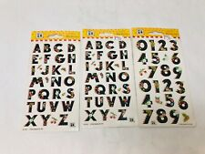 Mary Engelbreit Stickers Numbers & Letters Vintage Sealed Packages Collectible