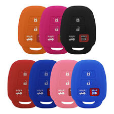 4-Buttons Silicon Cover Key Remote Fobs Set For Toyota Corolla Camry RAV4 Yaris