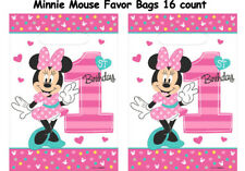 1st Birthday Minnie Mouse Favor Bags,Girls Birthday Party Supplies ~16ct(2 Pack)