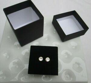 ❤ 'Diamond-Like' Clear Round Halo Stud Earrings NEW Solitaire Pierced FREESHIP
