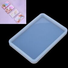 Rectangle Soft Pottery Base Mudboard Mold Silicone Jewelry Making Mould Resin