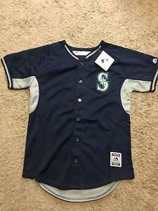 Majestic Seattle Mariners Youth MLB JERSEY L 14-16 MSRP $50  New U35