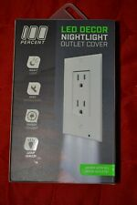 LED Decor Nightlight Outlet Cover - Auto Turn On/Off - Snap On - Safety Lamp