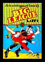 BIG LEAGUE LAFFS #4, ALL NEW UNDERGROUND COMIX, 1973, 1ST PRINTING, LAST GASP