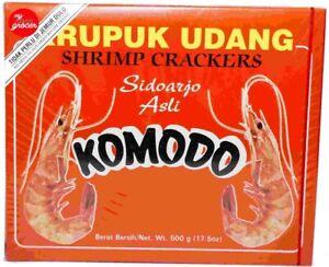 KOMODO KERUPUK UDANG SHRIMP CRACKERS - FAMOUS KOMODO PRAWNS CRACKER 500gm
