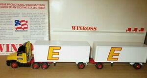 RARE VINTAGE WINROSS ESTES TRACTOR & DOUBLE TRAILER 1/64 Scale in Orig. Box