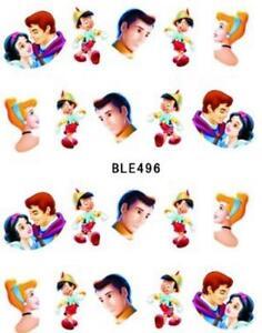 5 x Disney Cinderella Prince Nail Sticker Nail Art Decal Manicure Water Transfer