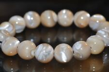 "16Pcs8mm ""Beauty From The Sea""~Saltwater Beige TROCHIDAE SHELL Round Beads K1167"